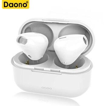 DAONO TWS IP8X Bluetooth אוזניות Earbud אוזניות עבור apple iPhone 6 I7 מיני אלחוטי אמיתי בתוספת Xiaomi תיבת טעינה מגנטית