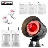 Wireless Sound Strobe Volume Adjustment Siren Alarm System For Home Security