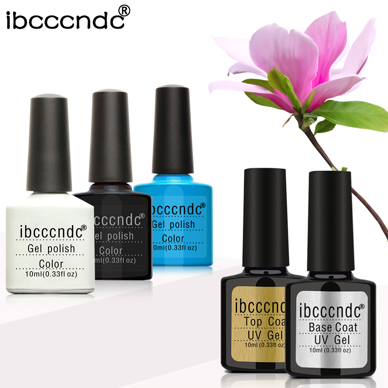 Ibcccndc 5Pcs/Lot Gel Polish Choose 3 Colors Nude Color UV Nail Gel Polish DIY Nail Art Base Coat Nail Primer Top Coat Varnish 12pcs lot green series uv gel nail polish led lamp gel lacquer gel polish vernis semi permanent gel varnish nail primer base top