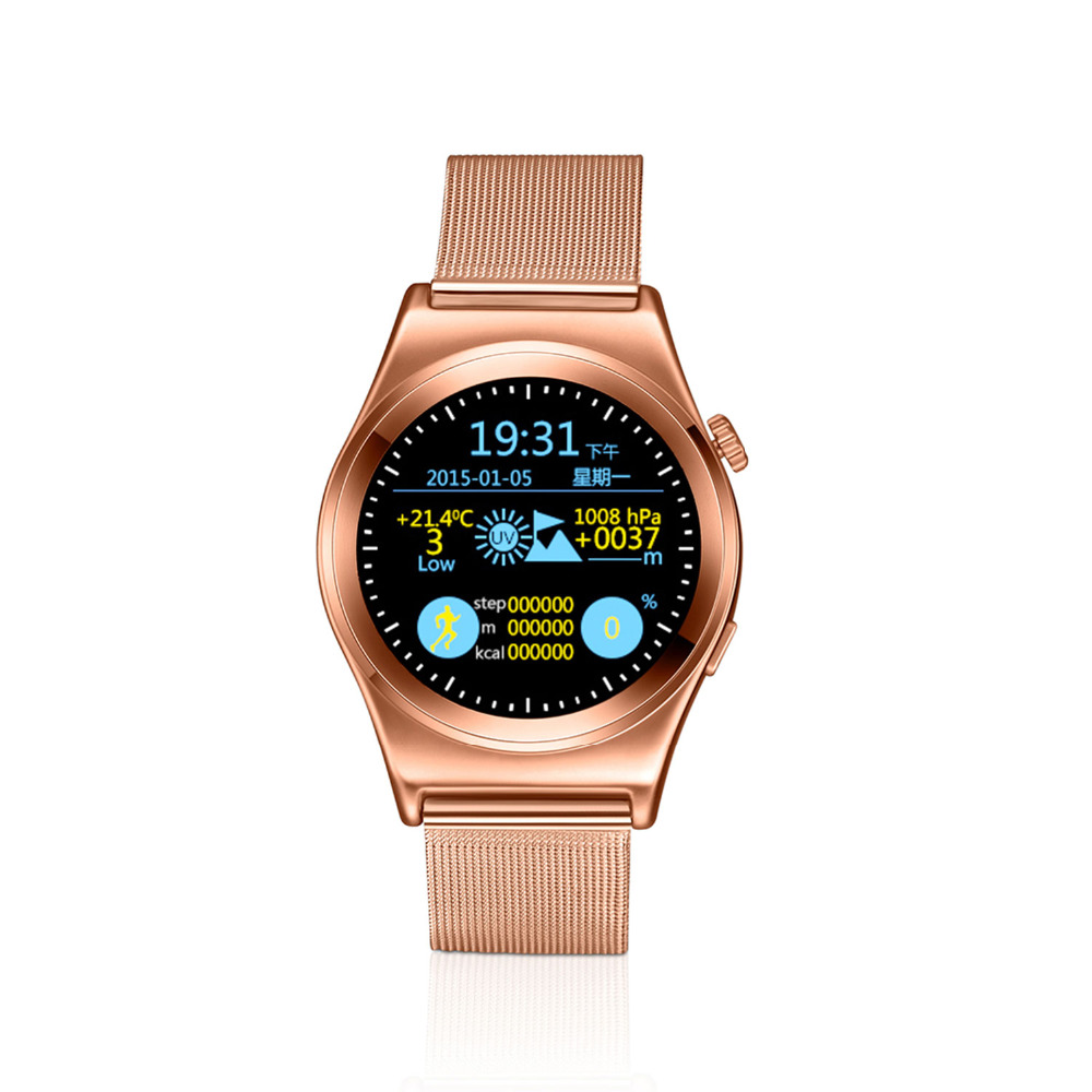 HD Full Roud Bluetooth Smart Watches X10 Heart Rate
