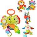 Sozzy multifunções Infantil Papel de Som e Mordedor Animal Brinquedos de Pelúcia do bebê Apaziguar Brinquedo Carrinho De Bebê para Recém-nascidos