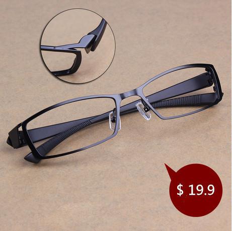 Homens titanium liga de metal óculos full frame de espetáculo ultra leve quadro óculos de miopia