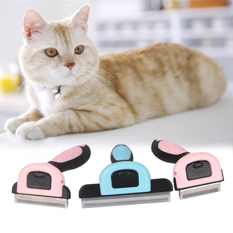 Toilettage pour animaux Outil Chien Chat Épilation Peigne Brosse à Cheveux Amovible Rejet Coupe Remover Outils