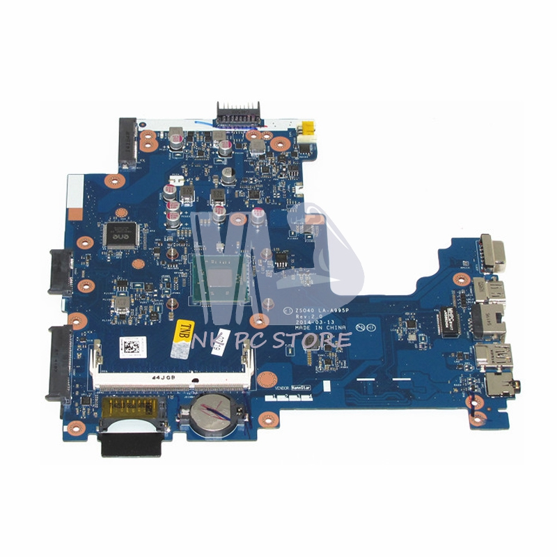 775632-001 MAIN BOARD For HP 240 G3 Laptop Motherboard ZS040 LA-A995P N2830 CPU DDR3 100%test 815248 501 main board for hp 15 ac 15 ac505tu sr29h laptop motherboard abq52 la c811p uma celeron n3050 cpu 1 6 ghz ddr3