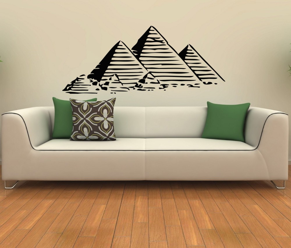 Egyptian Pyramids Wall Stickers Home Decor For Living Room Bedroom ...