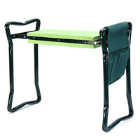 Garten Knie Mit Klapp Griffe Edelstahl Garten Hocker mit EVA Kniend Pad Gartenarbeit Stuhl-in Pflanzenregale aus Möbel bei