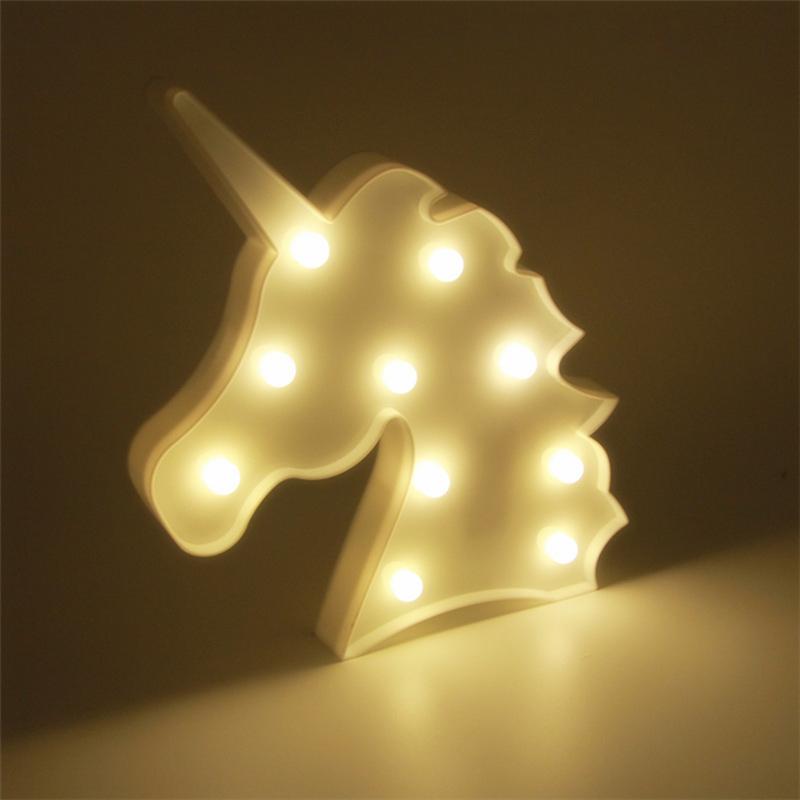 Unicorn Head White