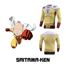 Japanese Anime One Punch Man Cosplay Costume Raglan Sleeve 3D Printed T shirt Men Compression Shirt MMA Fitness Crossfit Top Tee lace raglan sleeve keyhole tee