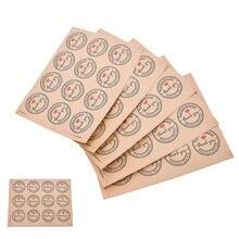 60 шт Горячая Красная любовь спасибо самоклеющиеся наклейки подарки на заказ круглые этикетки бумажный пакет крафт-этикетка Спасибо наклейки