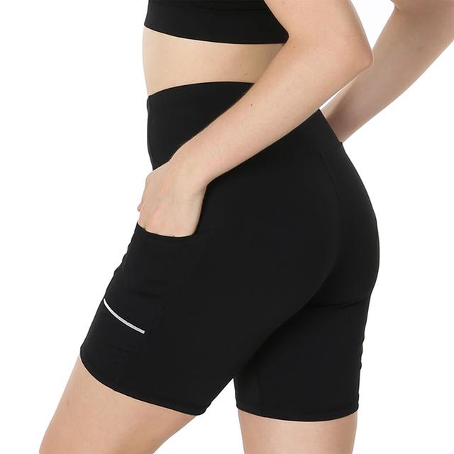 Black Quick Dry Hip Fitness Shorts