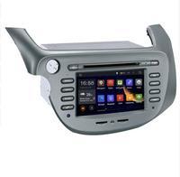 Подарки Встроенная память 16 г 4 ядра android 7.1 Fit Honda Fit/Джаз оставили вождения 2007 2013 dvd плеер автомобиля мультимедиа Навигация GPS DVD Радио