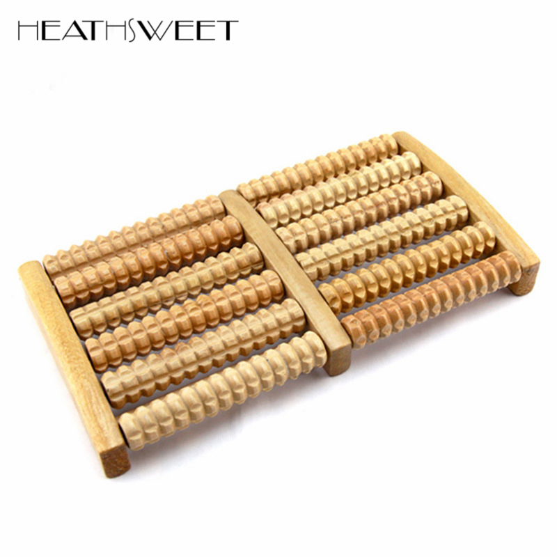 Healthsweet Six Rows Foot Massager Wooden Roller Massager Without The Need Electricity Massage Relaxation Health Care Product morais r the hundred foot journey