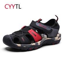 CYYTL летние сандалии для мужчин мягкие шлёпанцы для женщин Открытый пляжная обувь модные мужские сланцы в римском стиле повседневное Спортивная