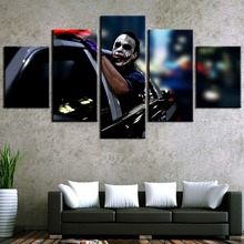 Framed 5 Panel Canvas Art Batman Joker Freedom Movie Paintings on Wall for Home Decorations Decor Picture
