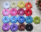 2000pcs 4 Inch Baby Crystal Flower Hair Bow Clip 4'' Girl Gerbera Flowers 4Inch Hair Clips