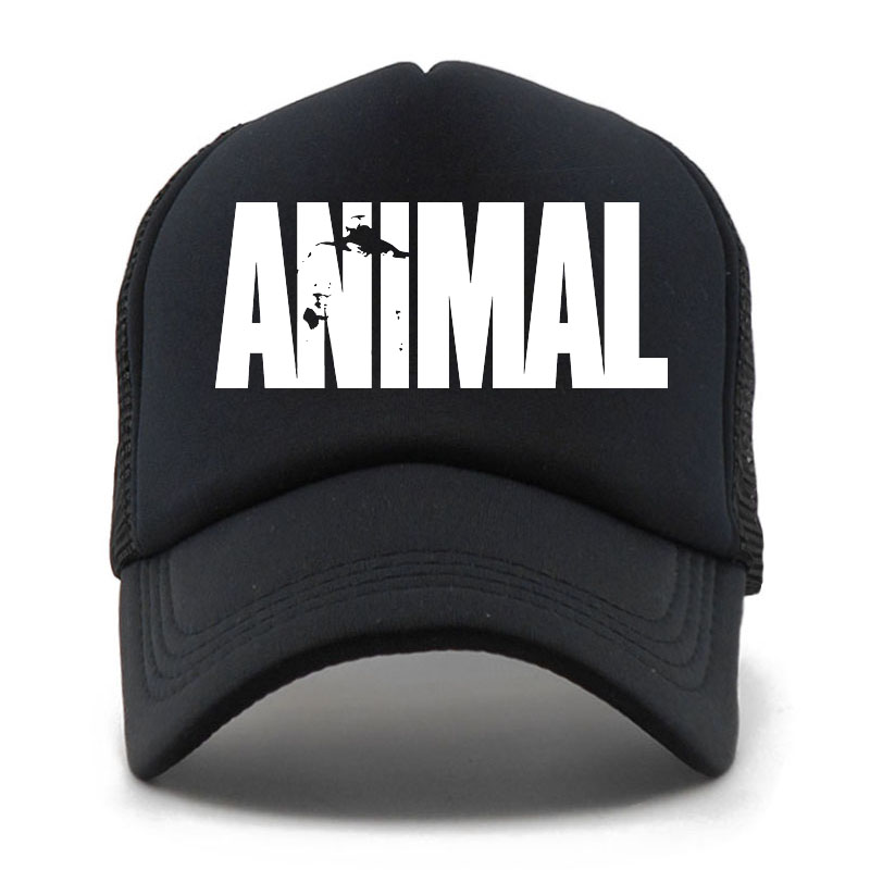Animal GYM   Baseball     Cap   Men Animal Print Fitness Fans Mesh Trucker   Cap   Body Building Muscle Sports Gorras Snapback Hat