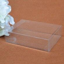 50 stks/partij 25 Maten PVC Transparante Plastic Doos Gift Dozen Kleine Doorzichtige Plastic Verpakking Voor Model Sample Display Dozen 7/24