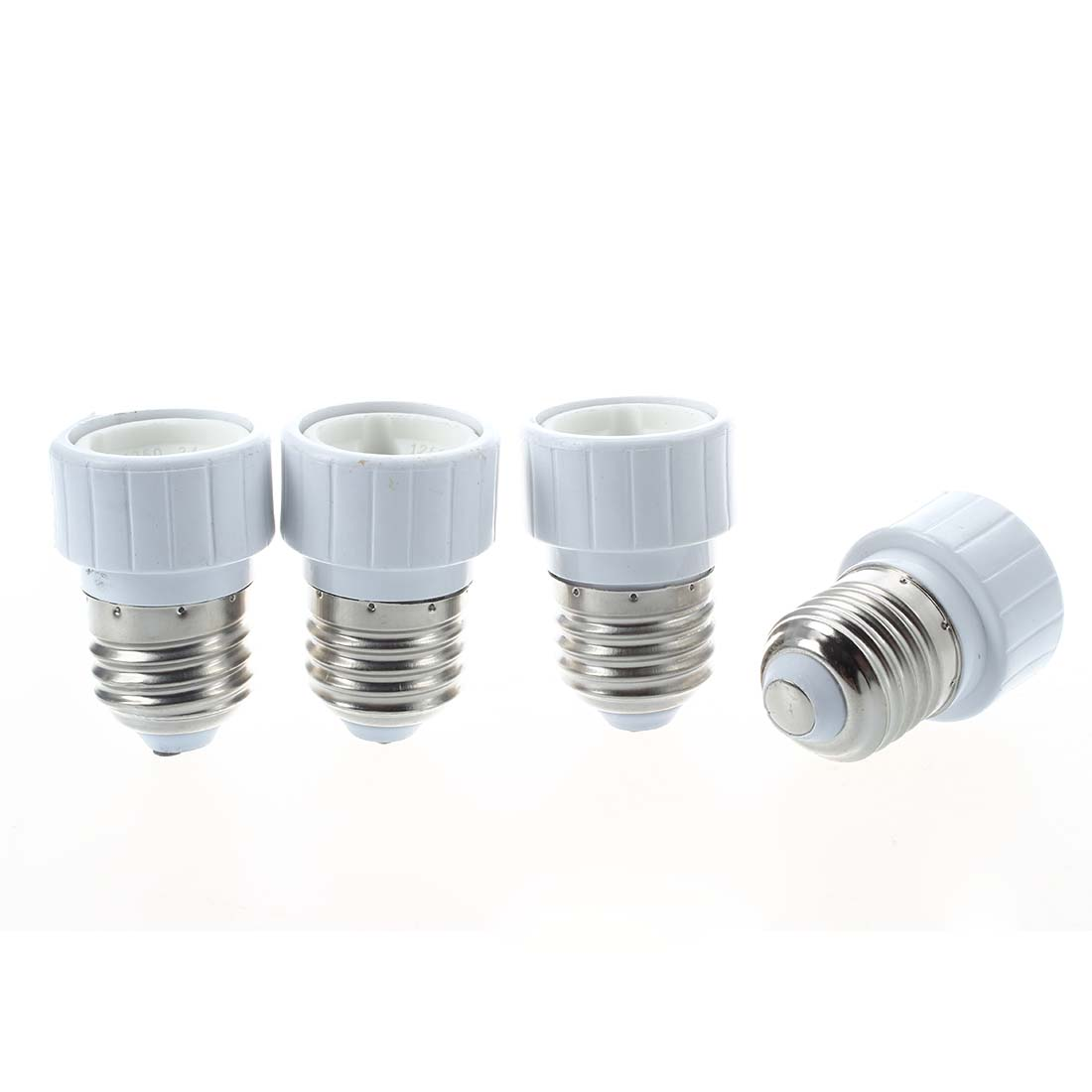4x E27 to GU10 LED light socket adapter socket adapter lamp bulb Converter White