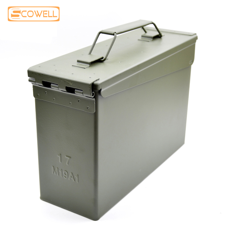 30 Off 30 Cal Metal Ammo Can Military and Army M19A1 All Metal Box for Long