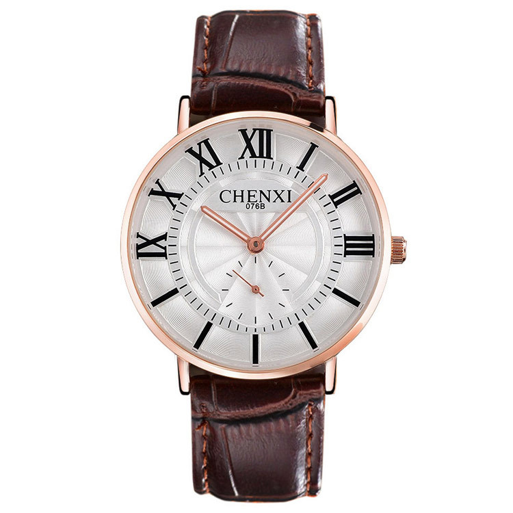 New Arrival CHENXI Watches 2018 Brand Luxury Fashion Leather Roman Lover Quartz Watch Amazing Brand Cater Watch Women And Man