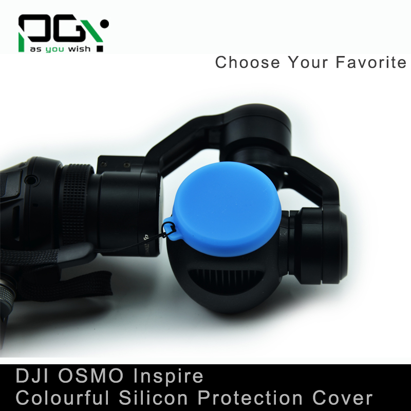 PGY DJI Inspire1 OSMO X3 Gimbal Camera Lens Silicon Protection Case Cover Lens Cap/ Cover/ FPV 5 Colors Quadcopter drone parts