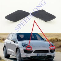 2 Pcs/Pair Front Bumper Headlamp Headlight Washer Spray Nozzle Cover Cap RH and LH for Porsche Cayenne 2011 2014