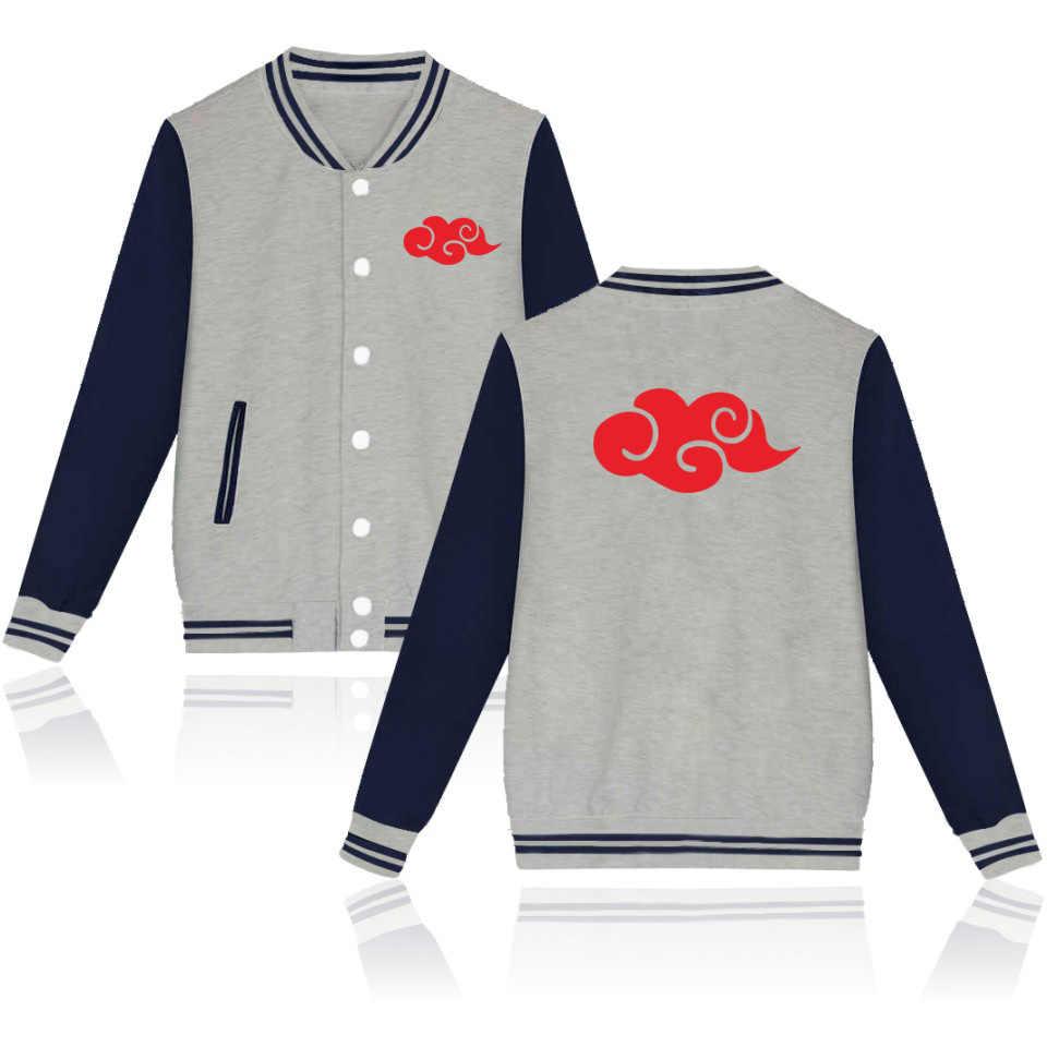 WEJNXIN Neueste Naruto Akatsuki Baseball Jacke Uchiha Itachi Hoodies Herbst & Winter Casual Unisex Sweatshirt Moletom Masculino