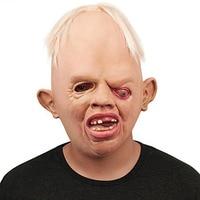 Potwór Dorosłych Lateks Pełna Głowa Twarz Oddychająca Maska Halloween Fancy Dress Party maska Horror Maska Cosplay zabawki