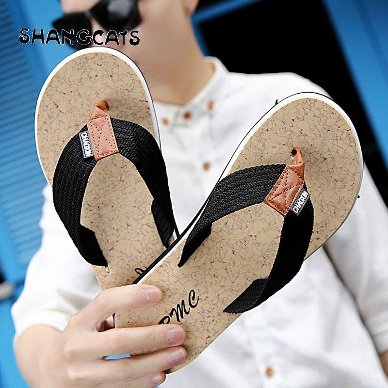 Summer Men Flip Flops Beach  Shoes Sandals Open Toe Slipper Indoor & Outdoor Flip-flops Size 40-45 Male ShoesComfort Sandals