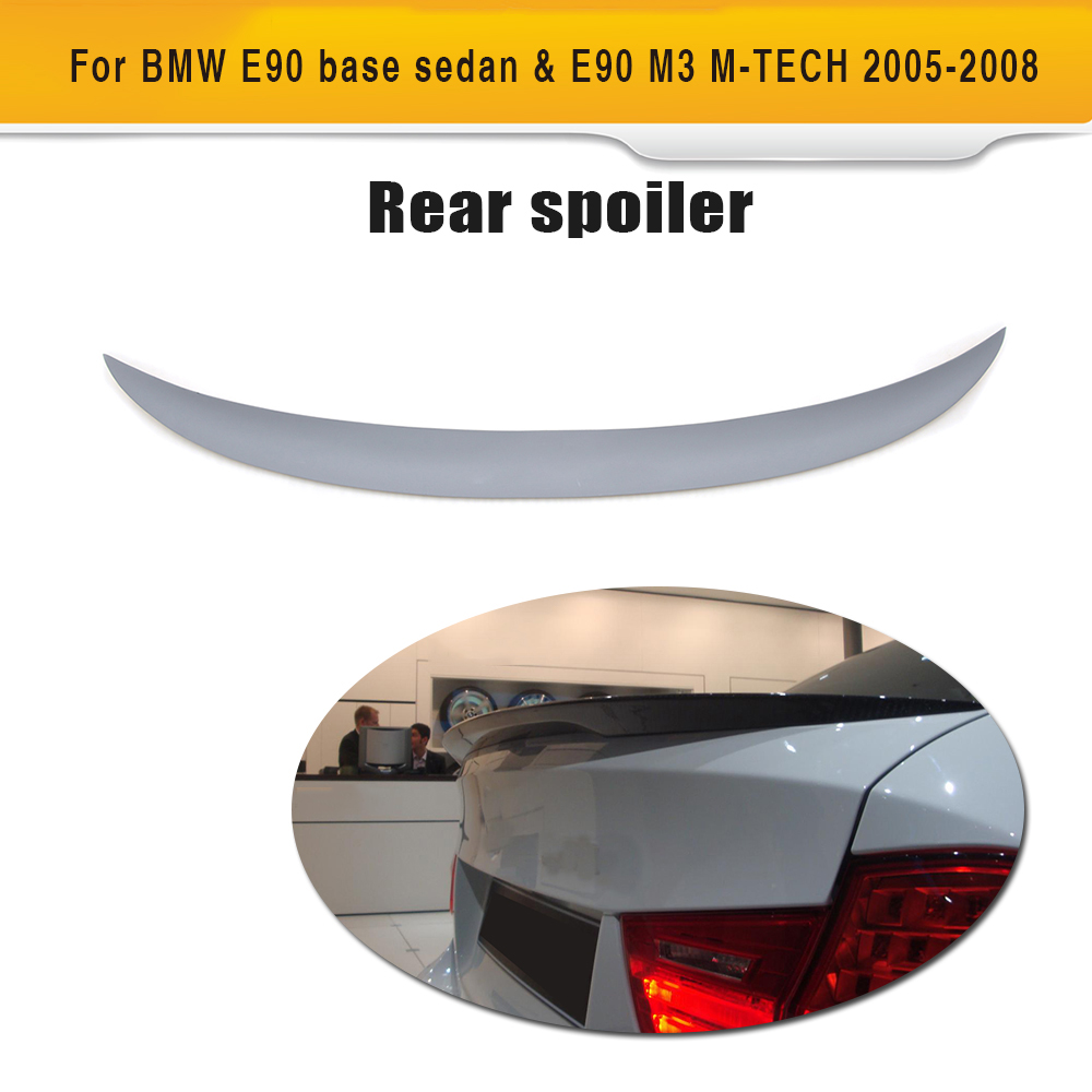 3 Series Car Rear Trunk Spoiler Lip Wing For BMW E90 M3 318i 320i 325i 328i  330i 335i XDrive 05 08 P Style ABS