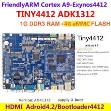 FriendlyARM Cortex A9 Quad core TINY4412 Enhanced ADK1312  1G RAM + 4G Flash Board Android 4.2