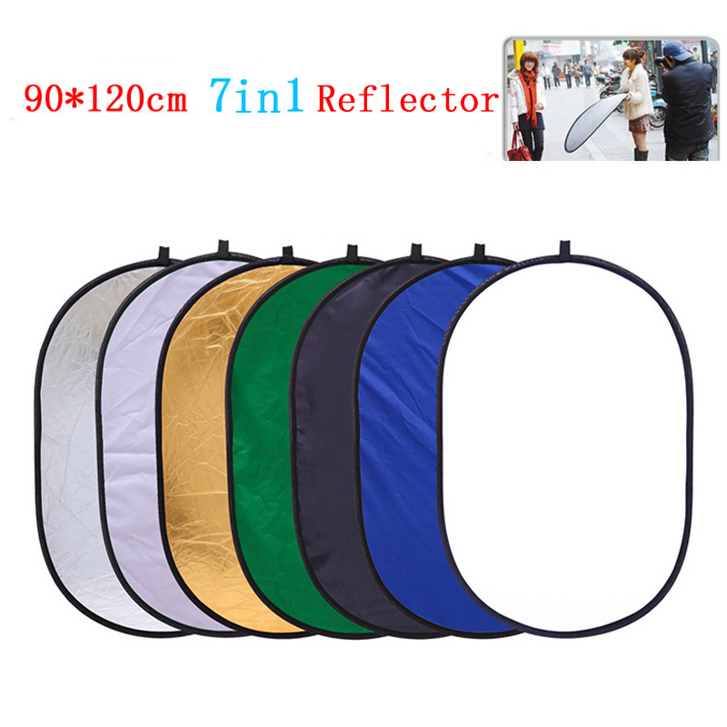 90x120 cm 7 en 1 poche Portable pliable lumière ovale photographie réflecteur Studio Multi disque Photo Studio accessoires