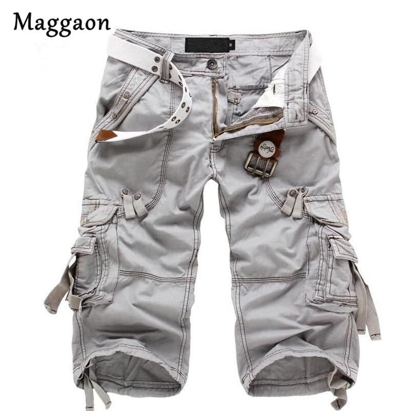 8 Colors Plus Size 29-40 New Brand Summer Camouflage Loose Cargo Shorts Men Camo Summer Short Pants Homme Cargo Shorts NO BELT