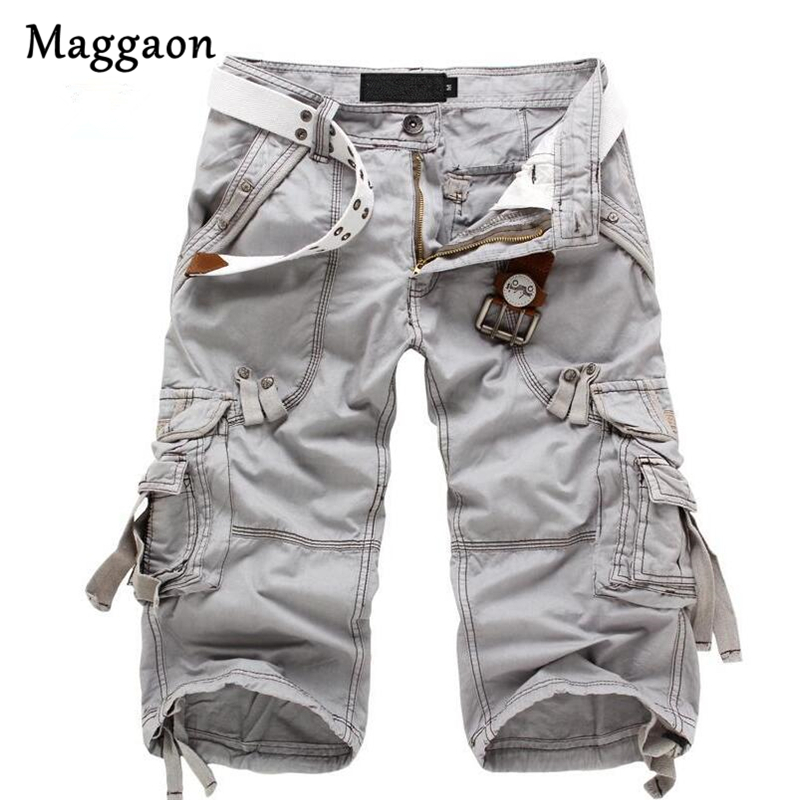 8 Colors Plus Size 29-40 New Brand Summer Camouflage Loose Cargo Shorts Men Camo Summer Short Pants Homme Cargo Shorts NO BELT
