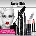 5Pcs/Set Eye and Lip Makeup Mascara Eyeliner Pen Eyebrow Pencil Shimmer Stick Lipstick Professional Makeup Sets Cosmetics Tool