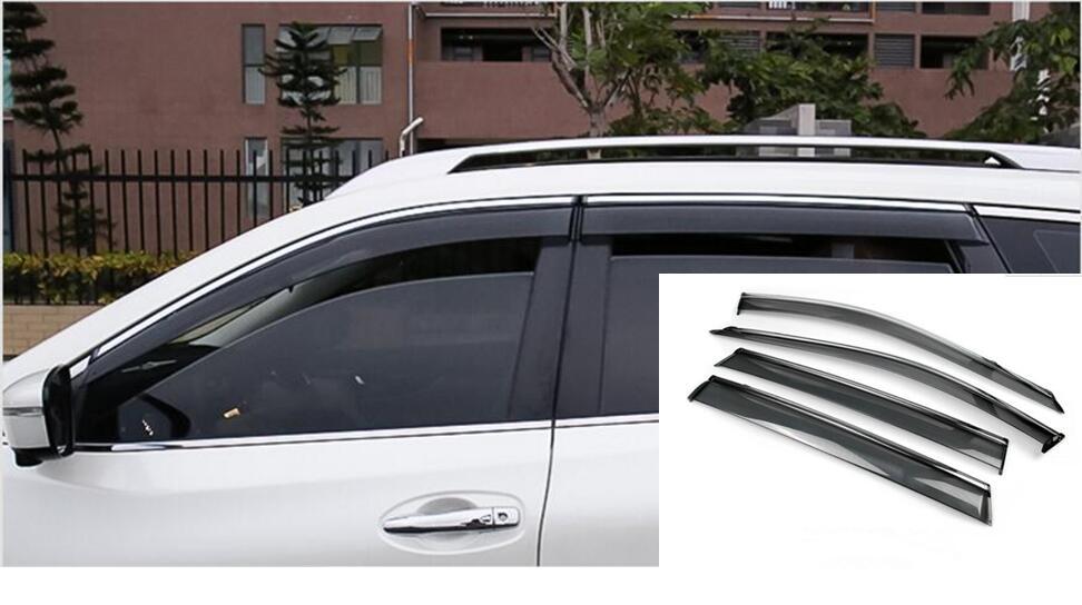 Car-Styling Window Visor Vent Shades Sun Rain For Nissan X-trail Rogue 2014 2015 2016 2017 fit for 14 nissan rogue x trail t32 window rain deflectors visor weather shields lf