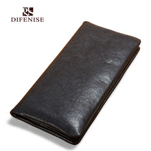 Difenise The first layer of cowhide vegetable tanned leather Men Clutch Wallets Fashion solid Hasp style High quality long bags