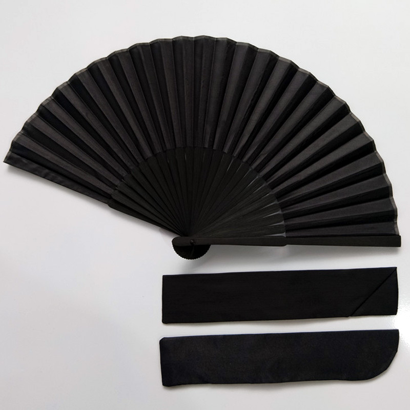 New Chinese Style Black Vintage Hand Fan Folding Fans Dance Wedding Party Favor