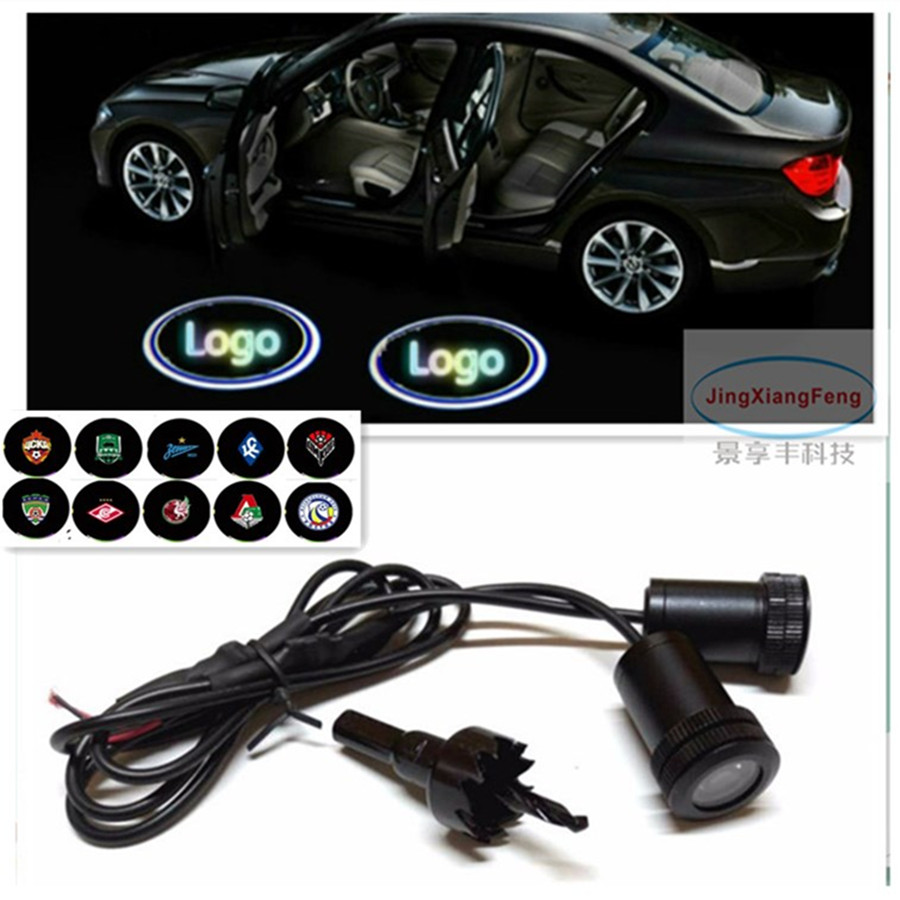 2x Wireless Ghost Shadow Laser Projector Logo LED Courtesy Lights for Lincoln