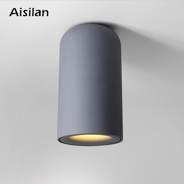 Modern style LED down light Nordic ceiling light for bedroom living room corridor surface mounted AC85-260V  9W Black white