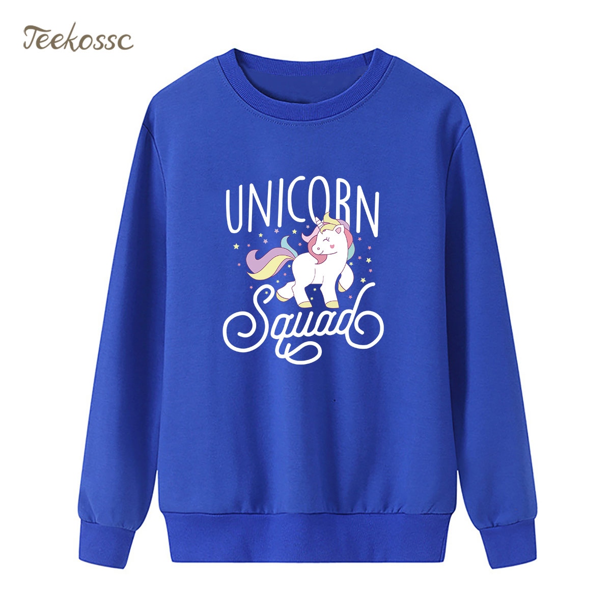 Rainbow white horse Sweatshirt Beautiful Hoodie 2018 Winter Autumn Women Lasdies Pullover Fleece Warm Loose Hipster Streetwear