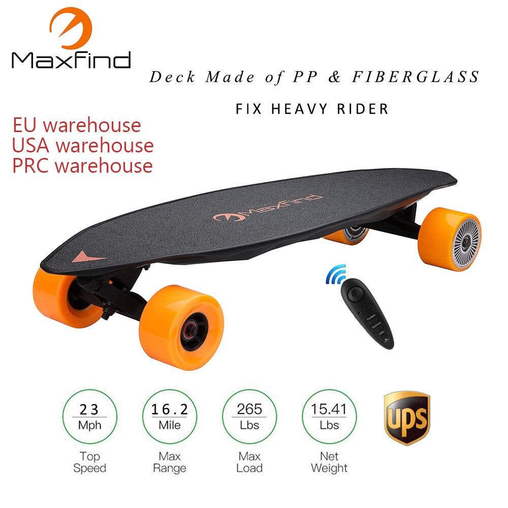 Maxfind A Quattro Ruote di Skateboard Elettrico MAX2, 2000 W Dual Motori A Distanza Senza Fili Cotroller Piastra di Scooter Bordo Hoverboard Monociclo