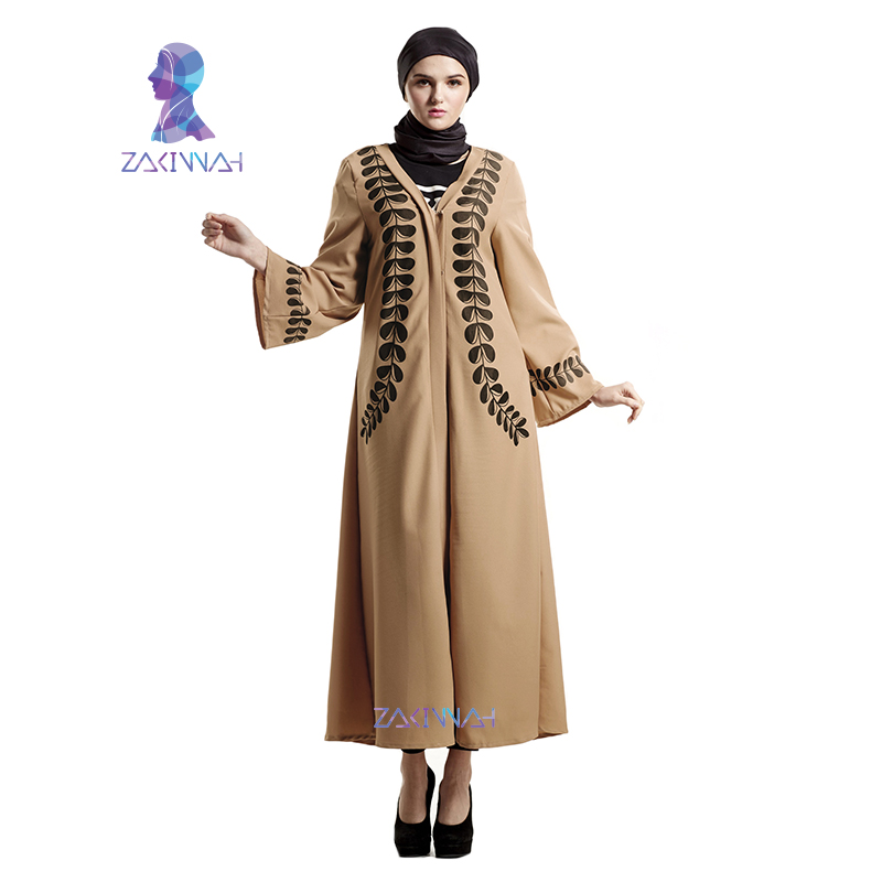 bc1492ebe2e Zakiyyah Fashion Muslim Women Dress Casual Turkish Abaya Muslim Cardigan  Robes Arab Kaftan Abaya-in Islamic Clothing from Novelty   Special Use on  ...
