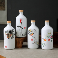 Ceramic vase plum artificial flower rose bottle Handicraft ceramic Vase Chinese Vases Wedding Gifts Home Furnishing Decoration