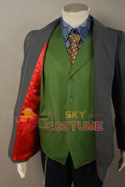 Batman The Dark Knight Joker Cosplay խրամատի բաճկոն + - Կարնավալային հագուստները - Լուսանկար 5