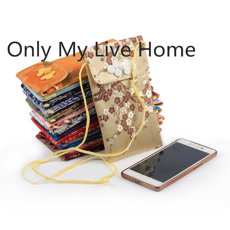 Маленькие сумки на молнии из шелковой ткани для хранения ювелирных изделий с подкладкой 50шт. Лучший!