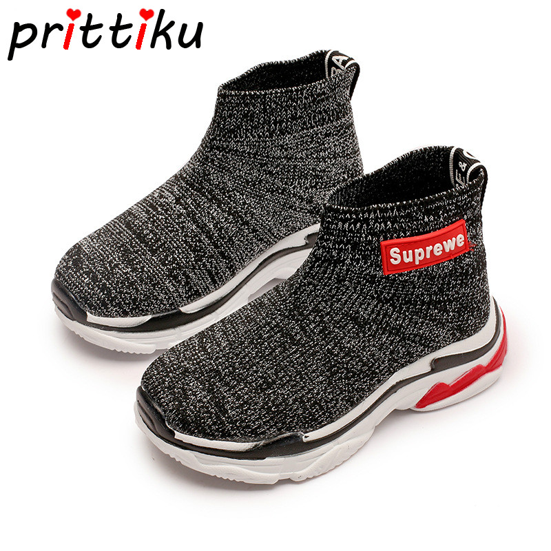 Spring 2018 Toddler Little/Big Kid Slip On Sneaker Breathable Knit Socks Sport Casual Grade School Shoes for Boys Girls Children teva orginal universal kids sport sandal toddler little kid big kid