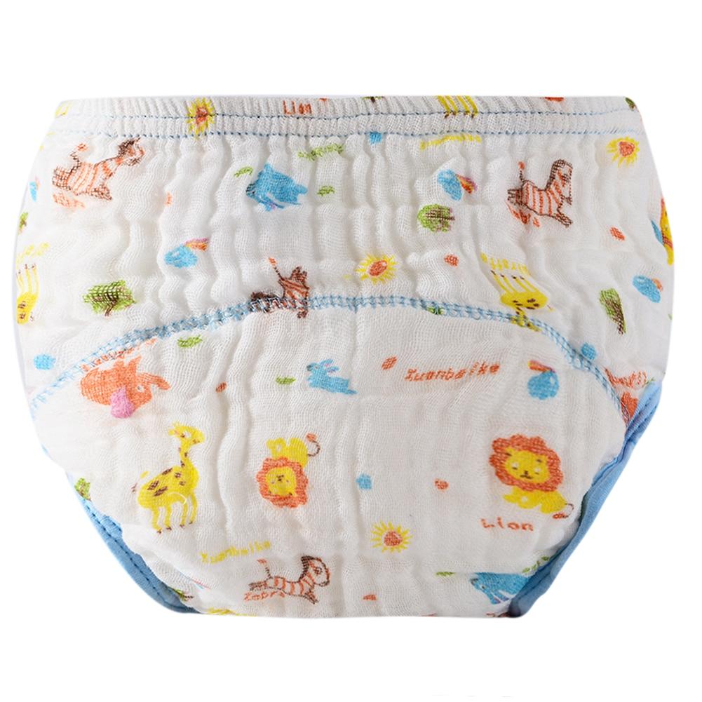 1 հատ մանկական մարզման շալվարներ Baby Diaper Reusable Nappy լվացվող շղարշով հակակողմանի անձեռոցիկներ Բամբակյա ուսման տաբատ