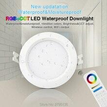 6 واط RGB + CCT إضاءة مقاومة للماء النازل FUT063 IP54 220 فولت راحة led لوحة السقف المستديرة بقعة ضوء داخلي غرفة المعيشة الحمام