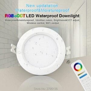 Image 1 - 6W RGB + CCT Wasserdicht led downlights FUT063 IP54 220v einbau led Runde deckenplatte spot licht innen wohnzimmer bad